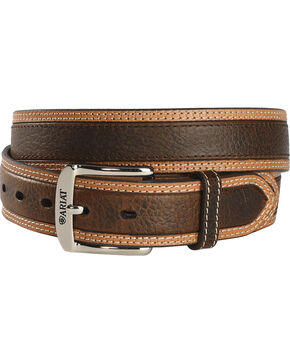 Ariat Men's Diesel Leather Belt, Brown, hi-res