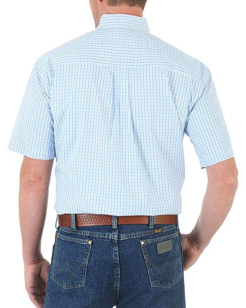 Wrangler Men's George Strait Blue Check Print Shirt - Tall , Blue, hi-res