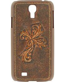 Nocona Distressed Diagonal Cross Galaxy S4 Case, , hi-res