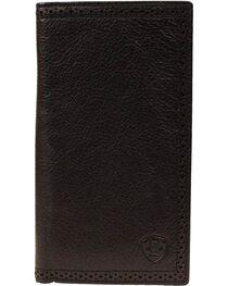 Ariat Men's Rodeo Check Book Wallet, , hi-res