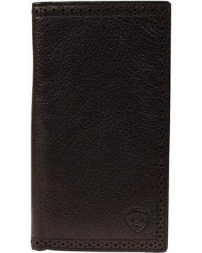 Ariat Men's Rodeo Check Book Wallet, Black, hi-res