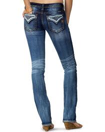 Miss Me Women's Indigo Open Flap Slim Fit Jeans - Extended Sizes, , hi-res