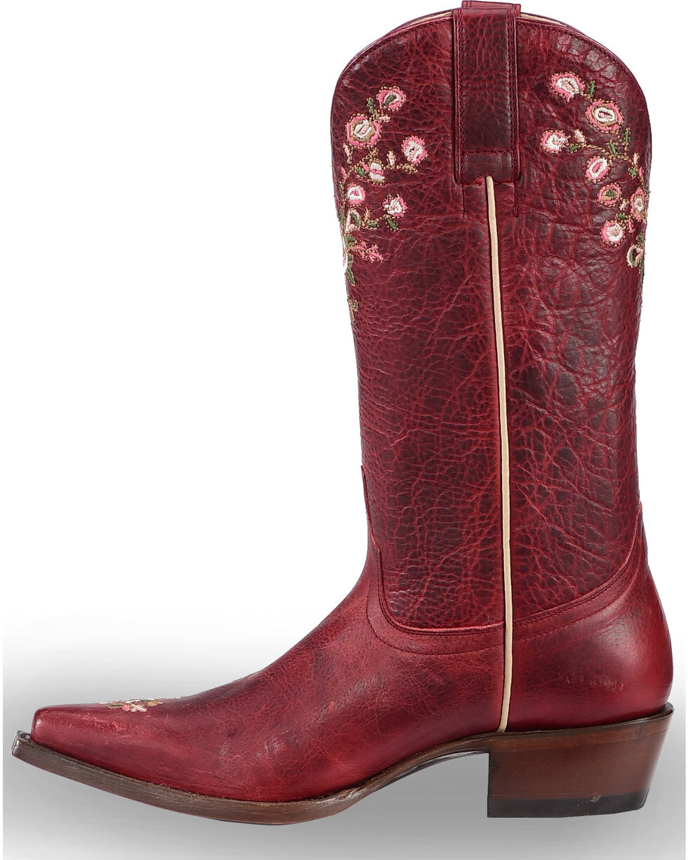 Shyanne Women's Christina Red Floral Western Boots - Snip Toe, , hi-res