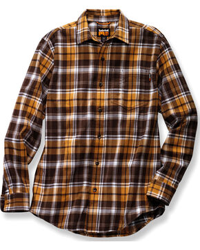 Timberland PRO Men's Brown Plaid Flannel Work Shirt, Brown, hi-res