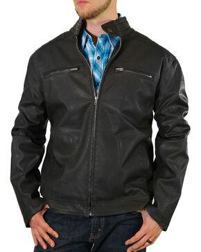 Moonshine Spirit® Men's Black Crest Motorcycle Jacket, Black, hi-res