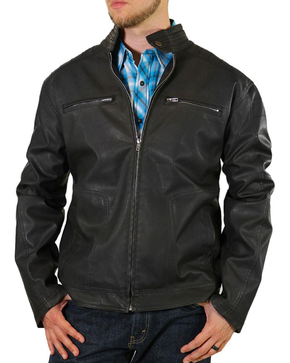 Moonshine Spirit® Men's Black Crest Motorcycle Jacket, , hi-res