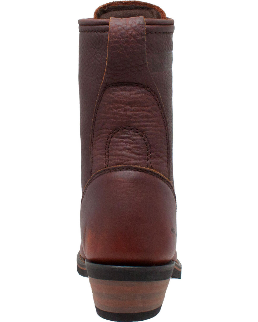 """Ad Tec Women's Chestnut 8"""" Leather Packer Boots - Soft Toe, Chestnut, hi-res"""