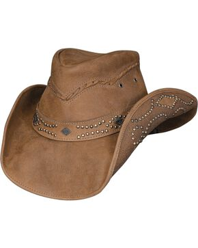 Bullhide Women's Hidden Pleasures Leather Hat, Honey, hi-res