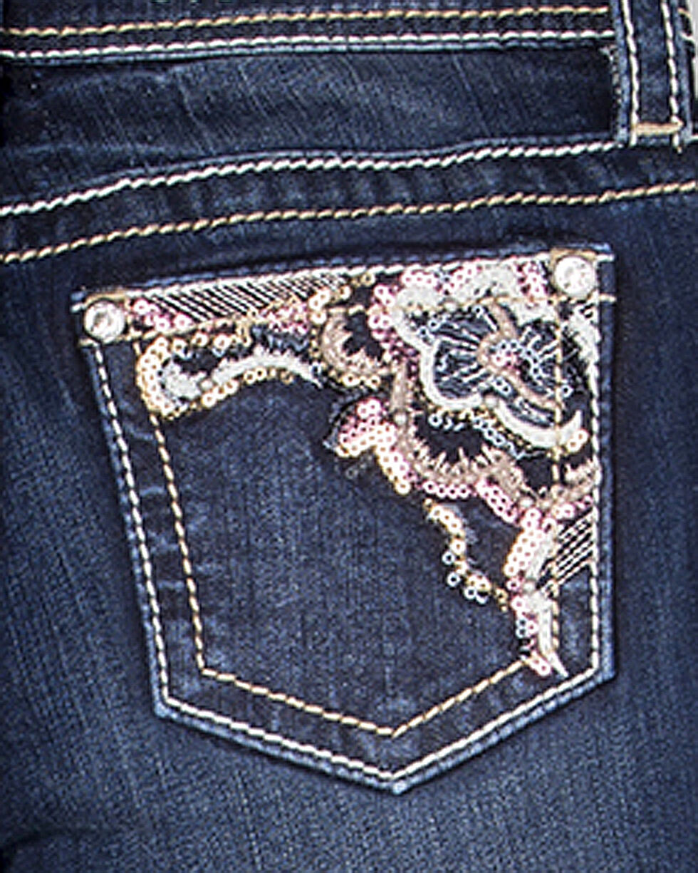 Miss Me Girls' In For The Frill Boot Cut Jeans , Indigo, hi-res