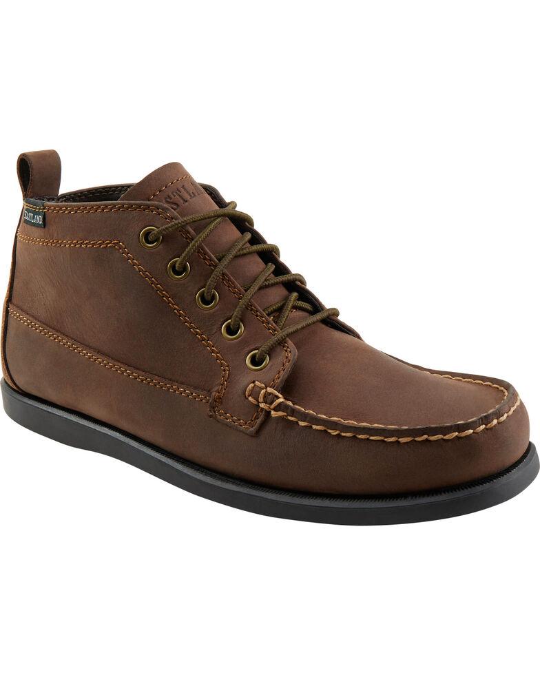 Eastland Mens Brown Leather Leather Boots Seneca Bomber