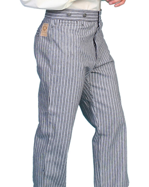 Scully Rail Striped Pants - Big and Tall, Black, hi-res
