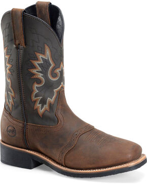 Double H Men's Crazy Horse Western Boots, Brown, hi-res