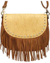Blazin Roxx Women's Fringe Round Concho Shoulder Bag, , hi-res