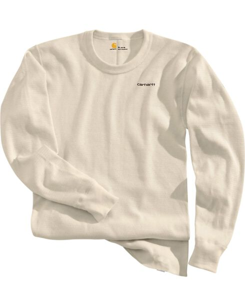 Carhartt Moisture-Wicking Thermal Under Shirt, Natural, hi-res