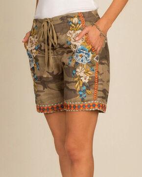 Johnny Was Women's Camo Hira Linen Shorts , Camouflage, hi-res