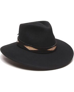 ále by Alessandra Diamond Hat Band Felt Hat, Black, hi-res