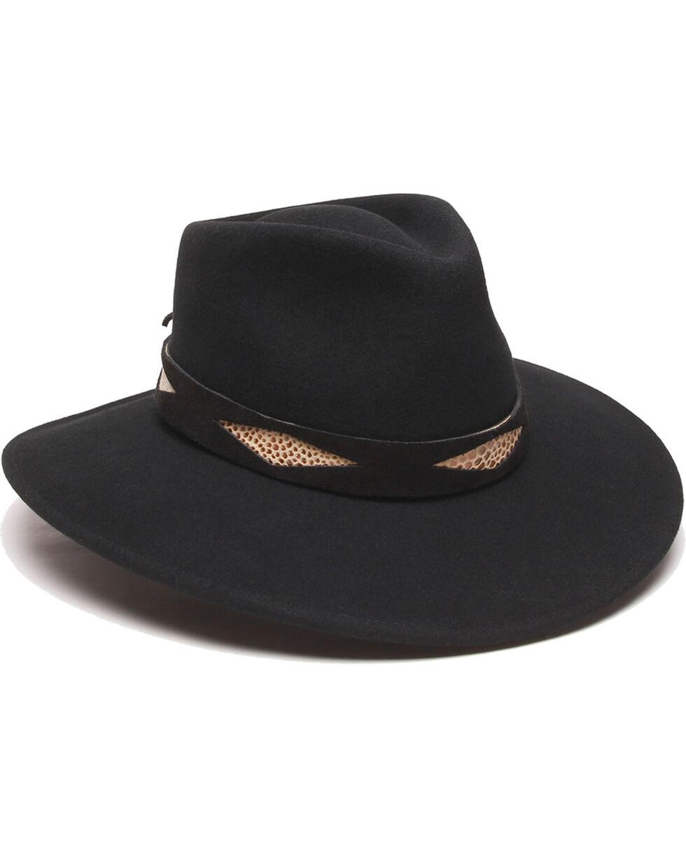 ále by Alessandra Diamond Hat Band Felt Hat, Black, hi-res