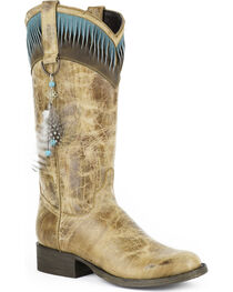Stetson Women's Kai Twisted Collar Western Boots, , hi-res