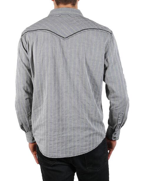 Moonshine Spirit Men's Laredo Striped Long Sleeve Western Shirt, Grey, hi-res