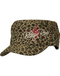 Blazin Roxx Leopard Print Logo Embroidered Cap, , hi-res