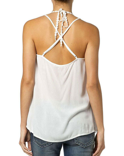 Miss Me Women's Lace Strappy Tank, Natural, hi-res