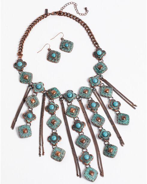 Shyanne Women's La Rosita Multi Chain Diamond Jewelry Set, Turquoise, hi-res
