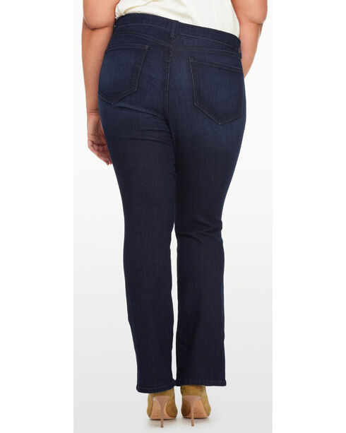 NYDJ Women's Billie Mini Bootcut Premium Denim Jeans - Plus Size, Indigo, hi-res