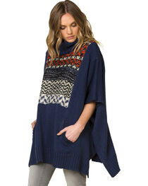 Miss Me Women's Before Sunrise Pullover Poncho , , hi-res