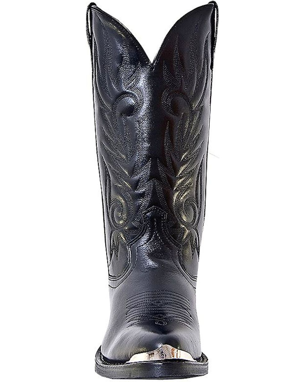Laredo McComb Cowboy Boots - Medium Toe, Black, hi-res