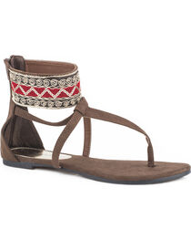 Roper Women's Brown Callie Sandals , , hi-res