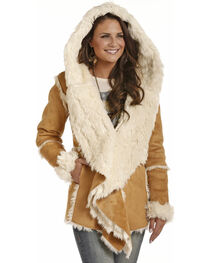 Powder River Women's Micro Suede Fur Hooded Jacket, , hi-res