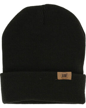American Worker Knit Beanie, Black, hi-res