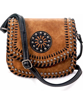 Blazin Roxx Women's Western Vanessa Conceal Carry Messenger Bag, Brown, hi-res