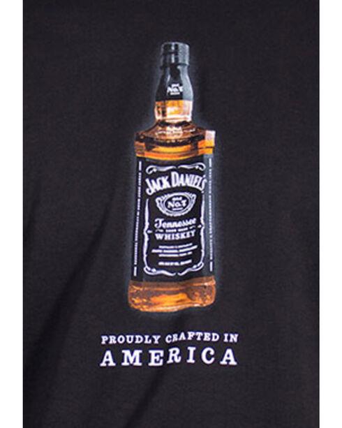 Jack Daniel's Men's Full Color Bottle Short Sleeve T-Shirt, Black, hi-res