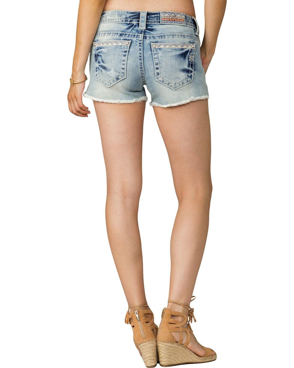 Miss Me Women's Living The Dream Mid-Rise Shorts, Indigo, hi-res