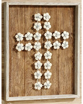 Giftcraft Cross Wood Wall Plaque , Lt Brown, hi-res