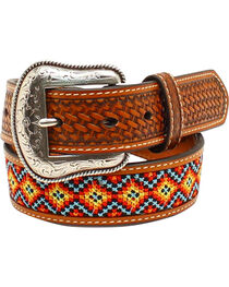 Nocona Boys' Embroidered Belt, , hi-res