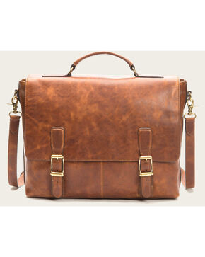 Frye Men's Logan Top Handle Bag , Cognac, hi-res
