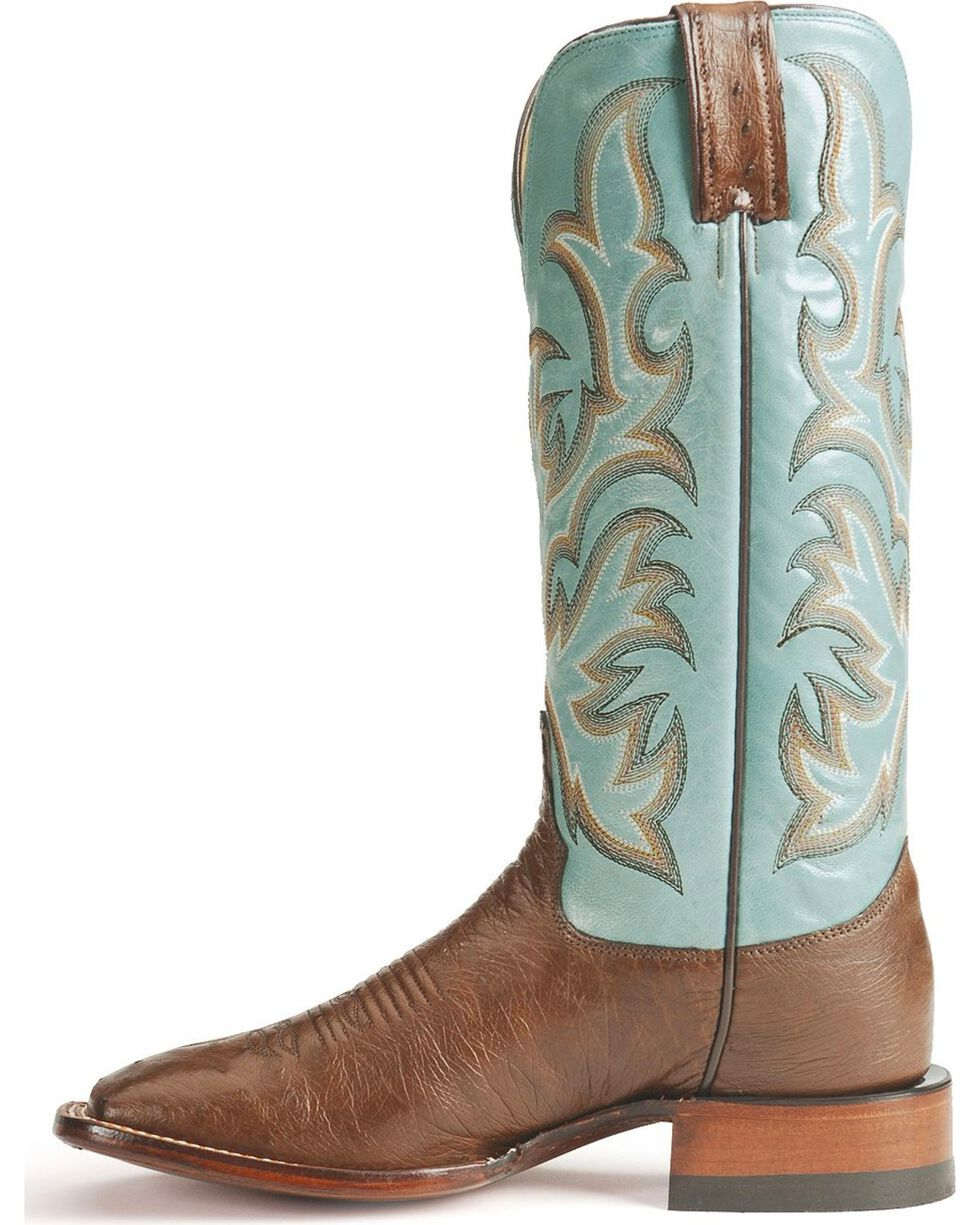 "Justin Boots Women's AQHA REMUDA Smooth Ostrich 13"" Western Boots, Antique Brown, hi-res"