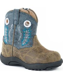 Roper Infant Boys' Cowbaby Blue Hole In The Walk Boots, , hi-res