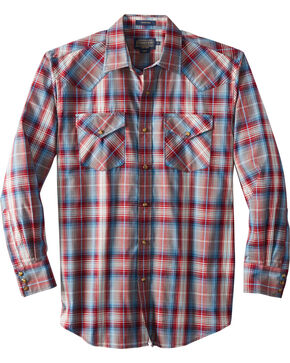 Pendleton Men's Long Sleeve Frontier Plaid Shirt, Red, hi-res