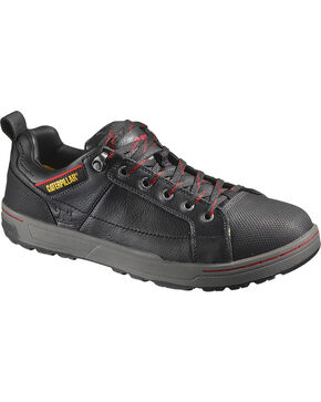 CAT Men's Brode Steel Toe Work Shoes, Black, hi-res