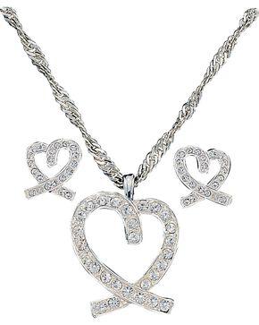 Montana Silversmith Women's Heart Jewelry Set, Silver, hi-res