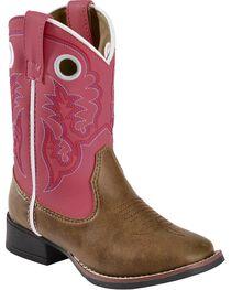 Laredo Kid's Mahaska Square Toe Western Boots, , hi-res