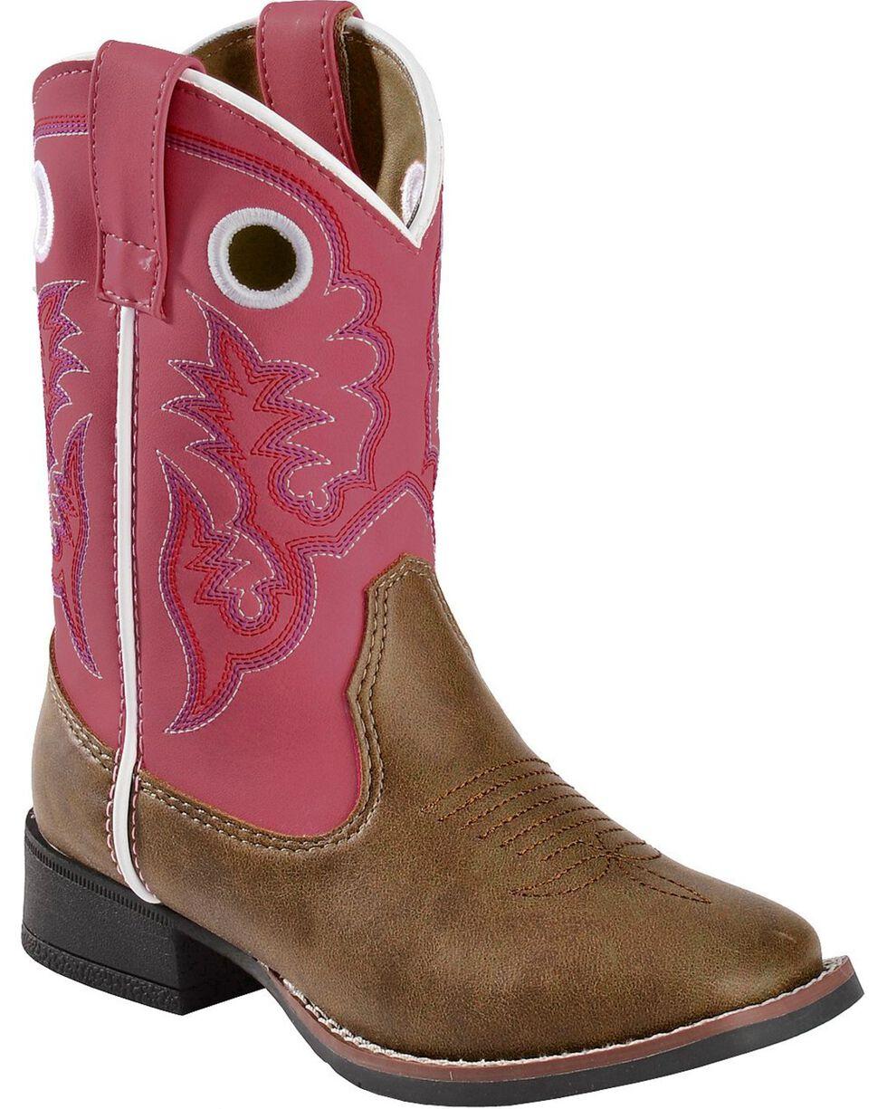 Laredo Kid's Mahaska Square Toe Western Boots, Tan, hi-res