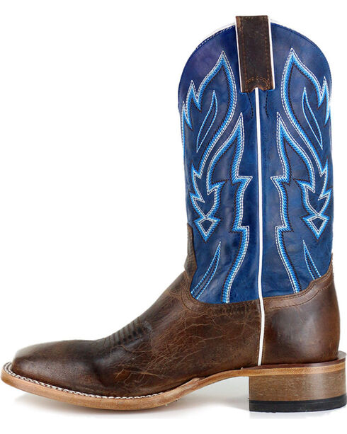 Cody James® Men's Vaquero Blue Fire Western Boots, Brown, hi-res