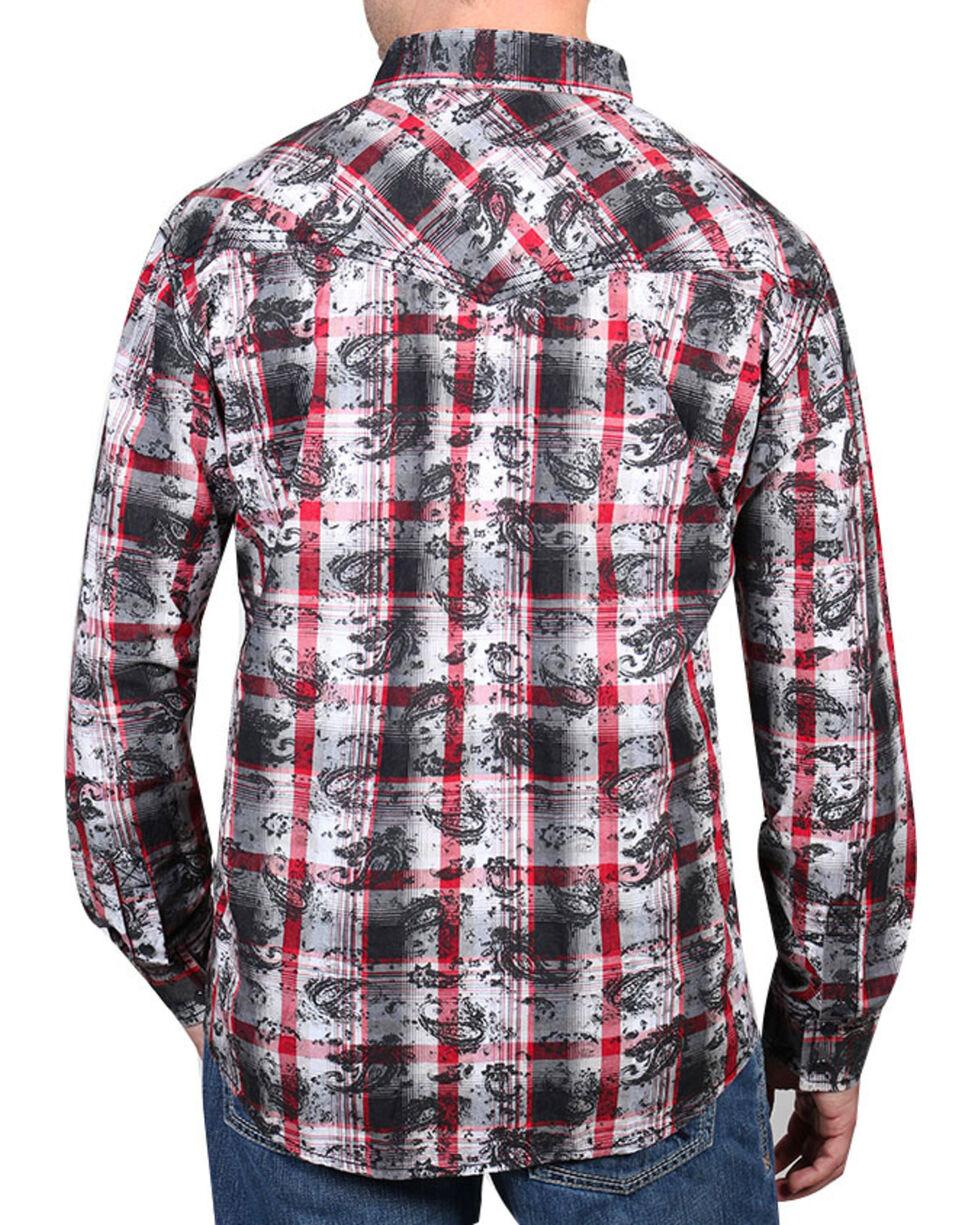 Moonshine Spirit® Men's Spanish Trail Paisley Long Sleeve Shirt, Black, hi-res