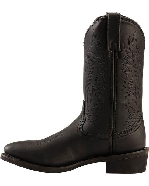 Justin Men's Ranch & Road Western Boots, Black, hi-res