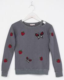 Miss Me Girls' Long Sleeve Butterfly Sweatshirt, , hi-res