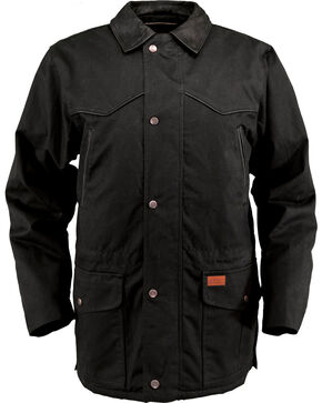 Outback Unisex Waterproof Oilskin Pathfinder Jacket, Black, hi-res